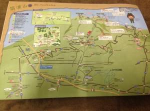 Peta sekitar Tsukuba san
