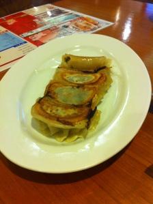 The vegetable dumplings